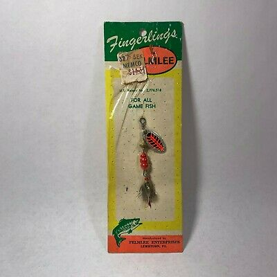 """Vintage Felmlee Fingerlings Fishing Lure 2 1/2"""" Sealed Original Package Tackle, used for sale  Shipping to Nigeria"""
