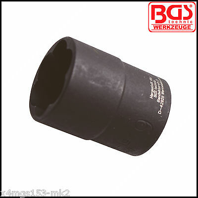 "BGS - 19 mm - Twist Extraction Impact Socket, 1/2"" Drive - Pro Range - 5266-19"