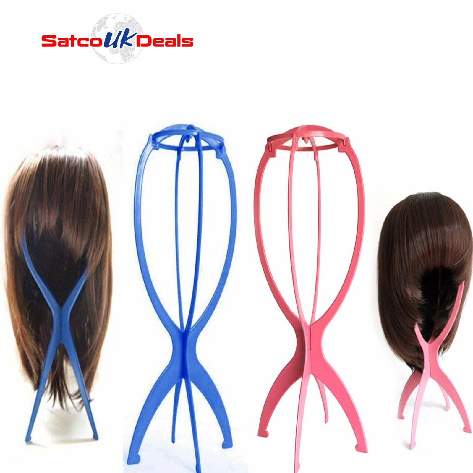 Foldable Wig Hat Cap Stand Hair Holder Mannequin Dummy