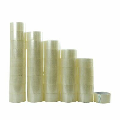 72 Rolls Clear Packing Packaging Carton Sealing Tape 2.0 Mil Thick 2 x 55 Yards