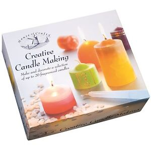 GIANT CREATIVE CANDLE MAKING CRAFT KIT HOUSE OF CRAFTS WAX SCENTED DELUXE SET