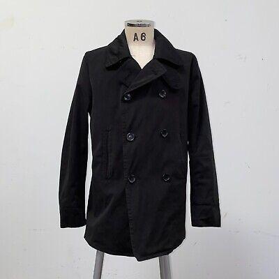Ten C Pea Coat Jacket Size 50 Black