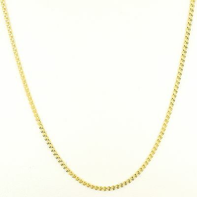 10K Yellow Gold 18 Inch 2 0Mm Interlink  Love  Chain Necklace Free Shipping