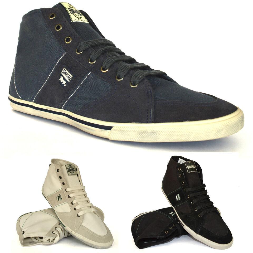 Mens Suede Canvas Hi Top Lace Up Plimsolls Ankle High Trainers Pumps Shoes Size