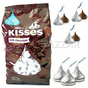 Hershey's KISSES Milk Chocolate 1.58kg Bulk Bag Hersheys Kisses