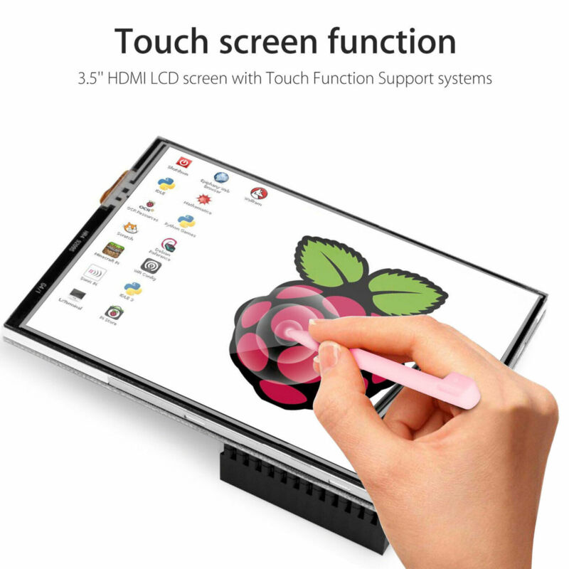 """3.5"""" Inch Touch Screen Monitor LCD Display  For Raspberry Pi 4 with  Case Pen"""