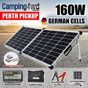 160W 12V Folding Solar Panel Kit + Regulator + Bag Caravan Campin Wangara Wanneroo Area Preview