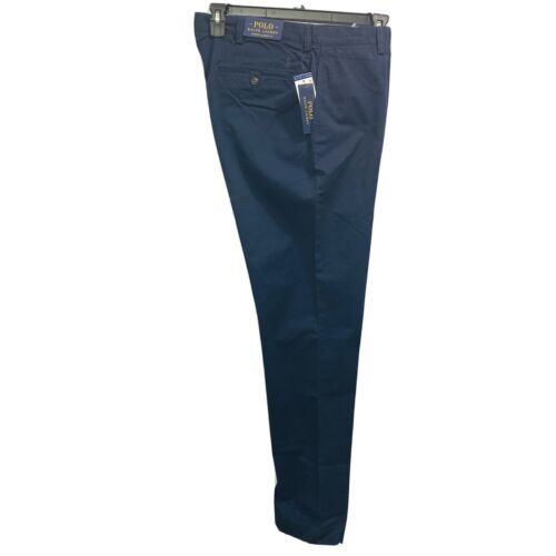 Polo Ralph Lauren Mens Stretch Classic Fit Chino Pants trousers 36×36 Navy blue Clothing, Shoes & Accessories