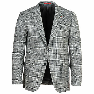 NWT $3295 ISAIA Gray Check 65% Wool 30% Silk 5% Cashmere Sport Coat Jacket