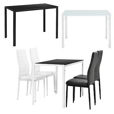 [en.casa] Esstisch 105x60cm mit 4er Set Stühle Esszimmerset Tischgruppe