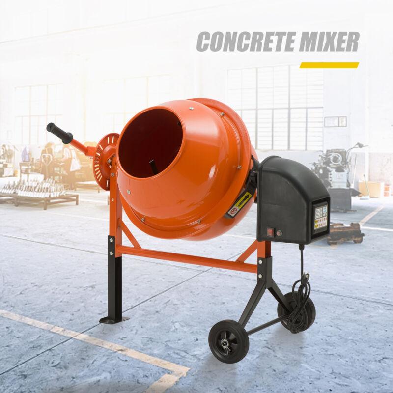 Electric 2-1/5cuft Portable Concrete Cement Mixer Barrow Machine Mixing Mortar