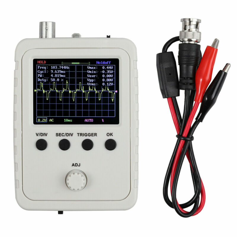 """New 2.4"""" LCD Display DSO150 Digital Oscilloscope Assembled Case Test Clip Power"""
