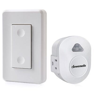 DEWENWILS Wireless Wall Switch Remote Control Outlet, Electrical Remote On Off