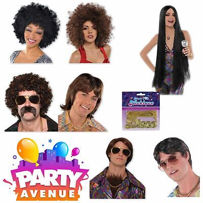 Adult Disco Fever 1970s Wig Accessories Fancy Dress Rock n Roll - Disco Accessories
