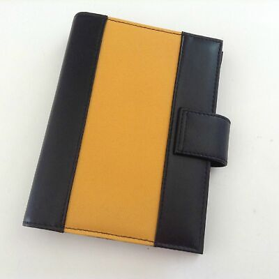 Compact 0.75 Six Ring Concorde Day Runner Black Yellow With Inserts