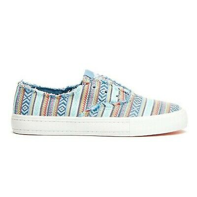 Women Rocket Dog OXFORD AFINA Blue Multi Goodies Lace-Up Athletic Sneakers Shoes