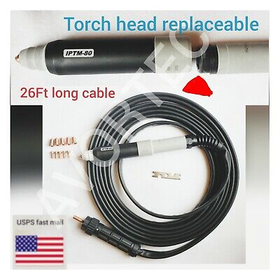 26ft Iptm80 Plasma Torch Head Replaceablecnc Plasma Torch Central Connector