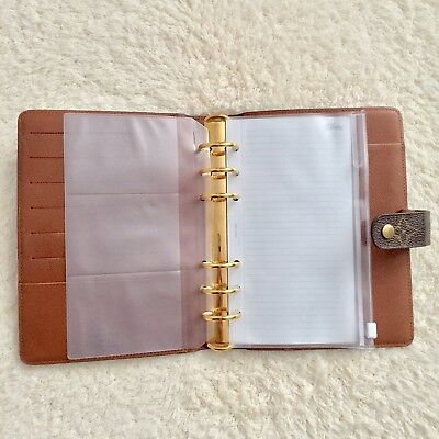 Transparent A6 Envelope Zipper Planner Pocket Card Holder Filofax Agenda Usa