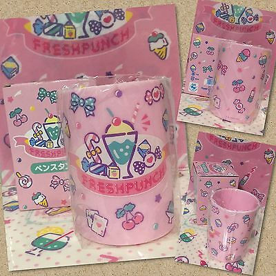 2016 NEW Sanrio FRESH PUNCH accessories pencil plastic cup holder with box