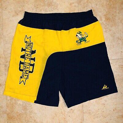 Apex One VTG Notre Dame Fighting Irish Mens Size L Swim Trunks Shorts