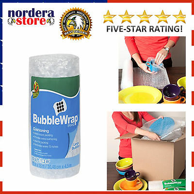 Bubble Wrap Large Size Bubbles Roll For Moving Storage Packing 12 In X 15 Ft New