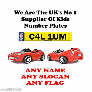 PERSONALISED-NUMBER-PLATE-FOR-KIDS-RIDE-ON-CAR-ROCKET-SPORTS-ROADSTER
