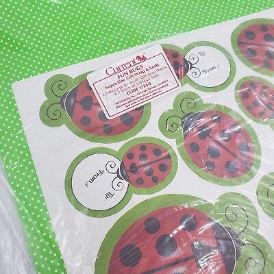 - Vintage 1983 Current Brand Fun Bugs Gift Wrap Set Ladybug Polka Dot Paper Seals