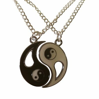 Best Friend, Friendship, BFF, Set of 2 Yin & Yang Necklaces, 18
