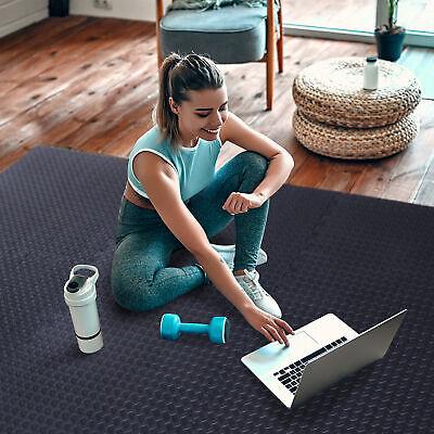 Premium Rubber Flooring Mats 3.6/'x10.2/' 9.5mm Exercise /& Gym High Density Black