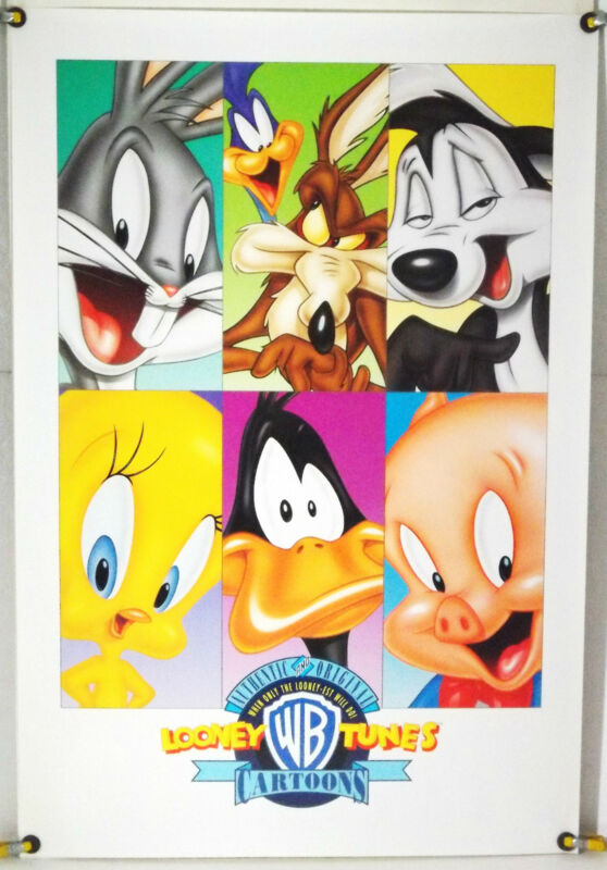 LOONEY TUNES CARTOONS ROLLED ORIG 1SH MOVIE POSTER BUGS BUNNY DAFFY DUCK (1990s)