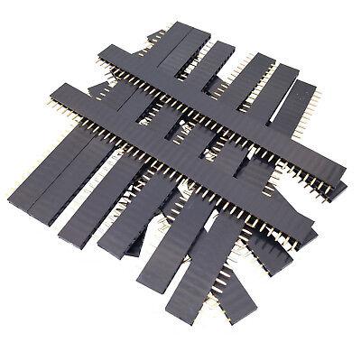 Us Stock 50pcs 40-pin 40p 2.54mm Single Row Straight Female Pin Header Strip