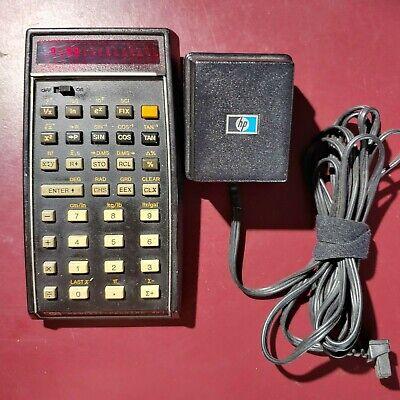 HP45 Scientific Vintage calculator w/PWR Adaptor  - USED condition - Please READ