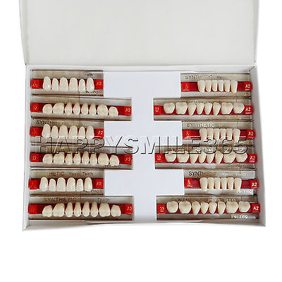New Acrylic Synthetic Resin Denture False Tooth Fake Shade A2 Upper Lower -84pcs