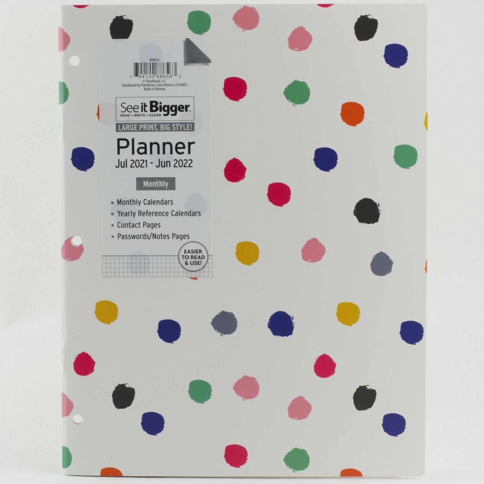 PlanAhead 2021 2022 Large Student Monthly Planner Agenda See