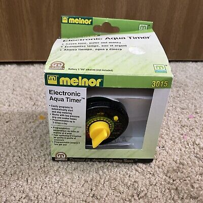 (New) MELNOR 3015 Electric Aqua Water Timer 3 Cycles Hour garden lawn automatic