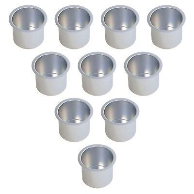 10 Aluminum Boat - 10-Pack Silver Jumbo Aluminum Drop In Cup Holders For Poker Table/Boat/RV Car