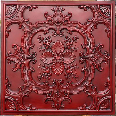 PL19 Faux tin country style old ceiling tiles decorative wall panels 10tile/lot