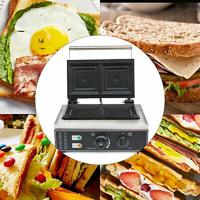 Commercial Electric 2 Slice Sandwich Toaster Press Maker Machine Nonstick Device