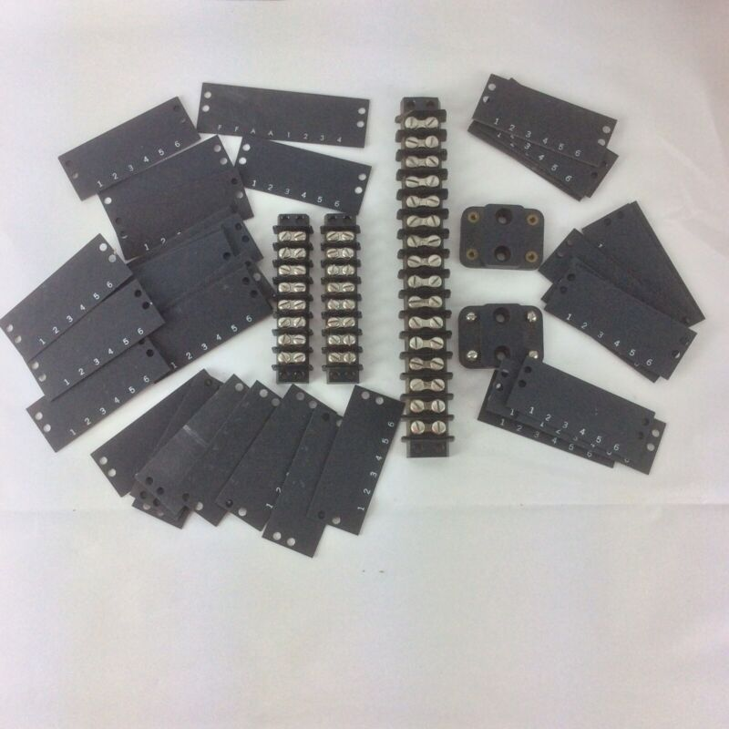 Lot 7 Jones Black 2-8-Position 1 1-16 position & 2 5406 Terminal Number Strips
