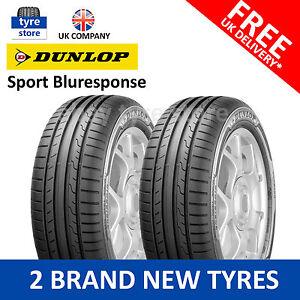 2x new 205 55 16 dunlop sport bluresponse 91v 2055516 205 55r16 2 tyres ebay. Black Bedroom Furniture Sets. Home Design Ideas