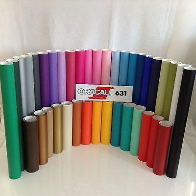 """Oracal 631 Matte Colors  Craft Vinyl Sign & Cutter 10 rolls 12"""" x 5 ft./roll"""
