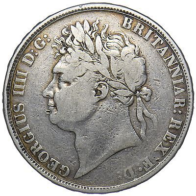 1822 TERTIO CROWN - GEORGE IV BRITISH SILVER COIN