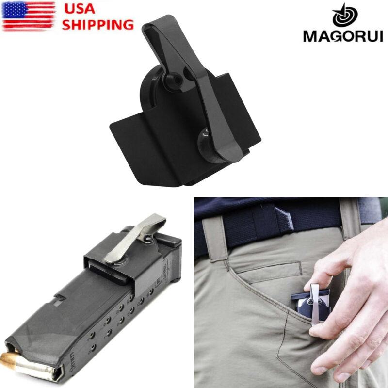 MAGORUI Magnetic Medium Size in-The-Pocket Mag Holder for Pocket Clip 9mm/.40 SW
