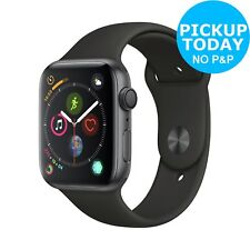 Apple Watch S4 GPS 44mm 16GB Smart Watch - Space Grey Aluminum / Black Band.