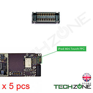 5 X Touch Screen Digitizer FPC Connector Socket Plug iPad Mini 1 2 3 4 & Retina