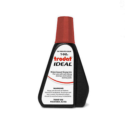 1 oz!!! RED Trodat / Ideal Rubber Stamp Refill Ink (for stamps & stamp pads)