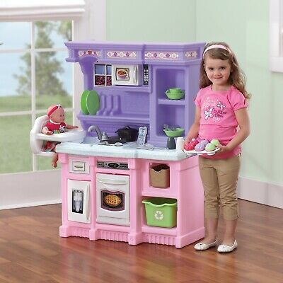Step2 Little Bakers Kids Play Kitchen with 30 Piece Accessory Play Set cooking