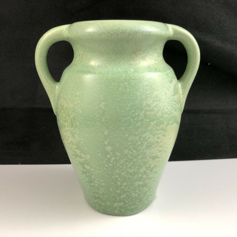 🟩 Stangl Pottery Apple Green Glaze #1791 Double Handle Vase 1930s - Signed