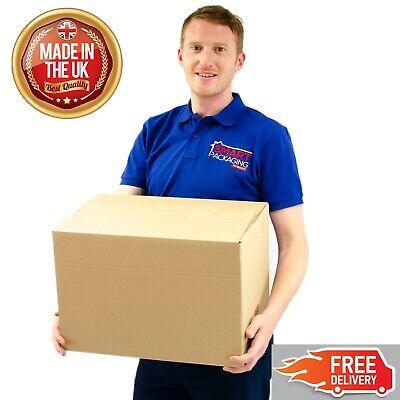 5 Medium Cardboard Packing Moving Boxes