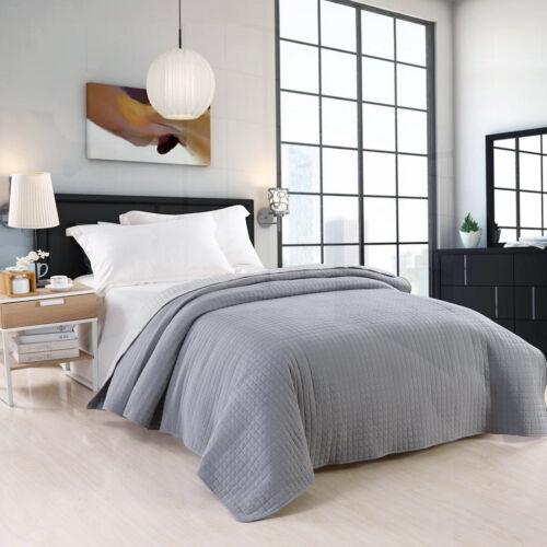 Tagesdecke Bettüberwurf Steppdecke Bettdecke Grau-Hellgrau Größe wählbar #673-4